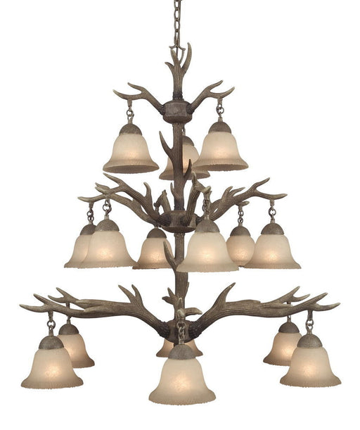 Aztec 34192 by Kichler Lighting Buckhorn Collection Fifteen Light Hanging Elk Chandelier in Buckhorn Finish - Quality Discount Lighting