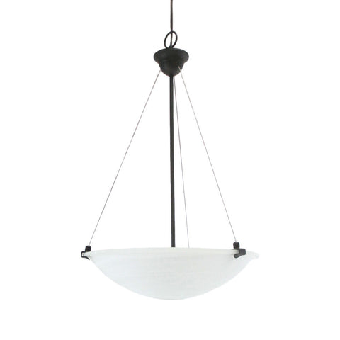 Epiphany Lighting 102146 ORB Three Light Pendant Chandelier in Oil Rubbed Bronze Finish - Quality Discount Lighting
