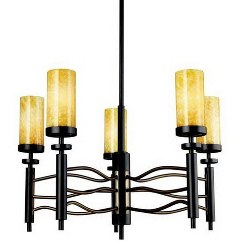 Kichler Lighting 42185OZ Five Light Millry Collection Hanging Chandelier in Olde Bronze Finish - Quality Discount Lighting