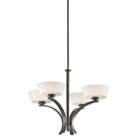 Aztec 34985 by Kichler Lighting Rise Collection Four Light Hanging Chandelier in Olde Bronze Finish
