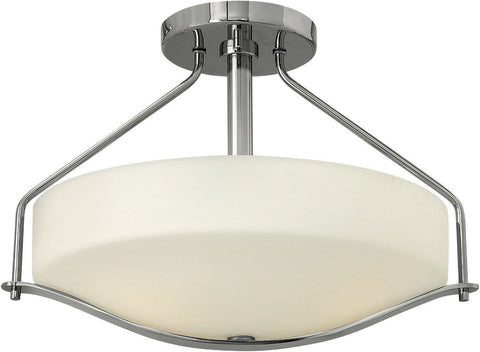 Hinkley Lighting 3821CM Pelham Collection Three Light Semi Flush in Polished Chrome Finish - Discount Lighting Fixtures