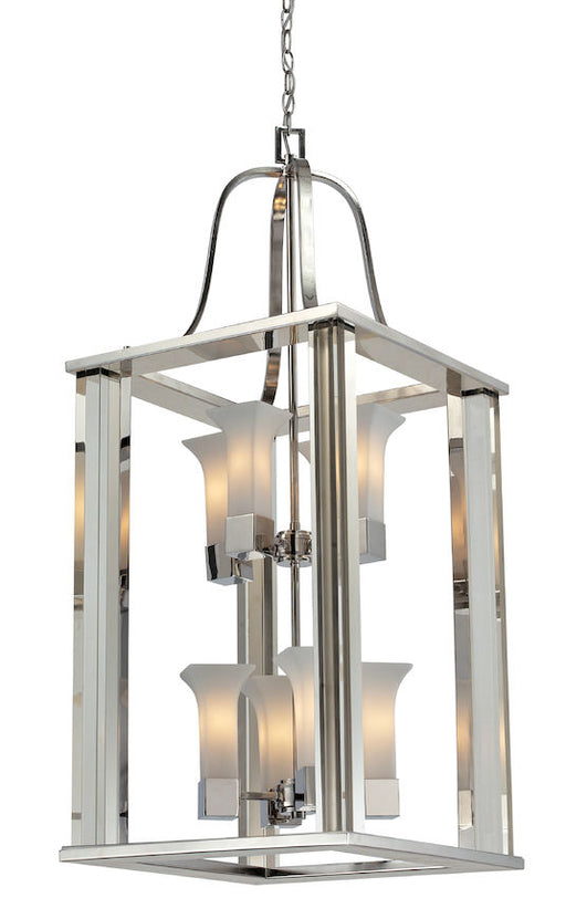 Z-Lite Lighting 611-42-CH Lotus Collection Eight Light Hanging Pendant Chandelier in Polished Chrome Finish