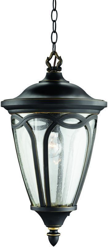 Kichler Lighting 9508 RNX One Light Exterior Outdoor Hanging Pendant in Rubbed Onyx Finish - Quality Discount Lighting