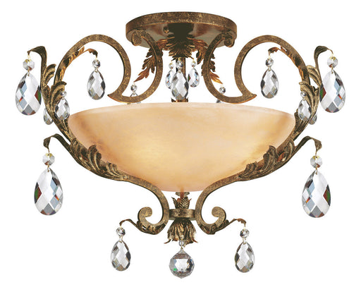 Hinkley Lighting Fredrick Ramond FR44109FRM Barcelona Collection Four Light Large Semi Flush Ceiling Mount in French Marble Finish
