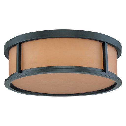 Nuvo Lighting 60-2863 Odeon Collection Three Light Flush Ceiling Mount in Aged Bronze Finish - Quality Discount Lighting
