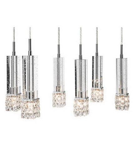 Elan by Kichler Lighting 83003 Adega Collection Six Light Hanging Pendant Chandelier in Polished Chrome Finish