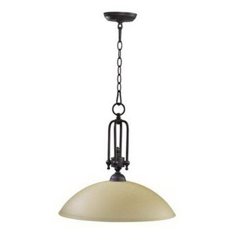 Quorum International 6999-18-44 Wingate Collection One Light Pendant in Toasted Sienna Finish - Quality Discount Lighting