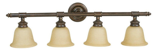 Craftmade Lighting 10635 AG4 Fresno Collection Four Light Bath Vanity Wall Mount in Aged Bronze Finish