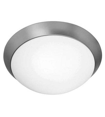 Access Lighting 20626 BS Cobalt Collection Two Light Flush Ceiling Fixture in Brushed Steel Finish