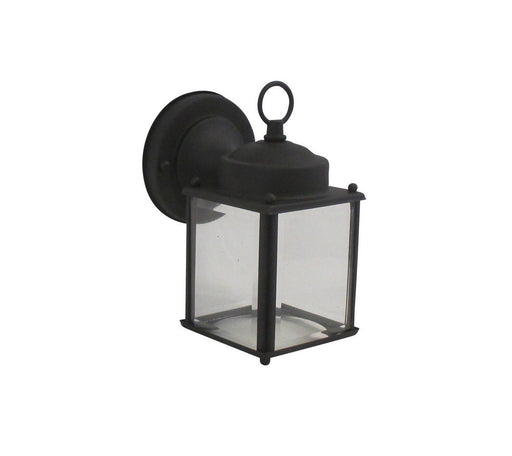 Rainbow 1261 BK One Light Exterior Wall Lantern in Black Finish