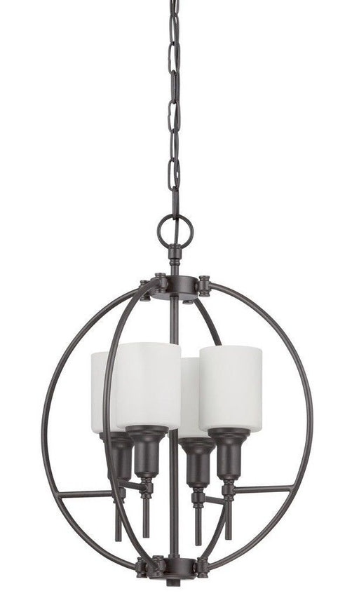 Craftmade Lighting 37234 ESP Meridian Collection Four Light Pendant Chandelier in Espresso Finish