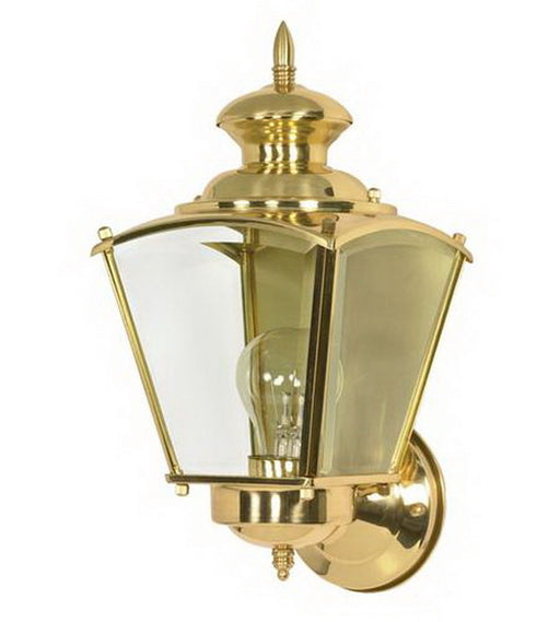 Nuvo Lighting 60-549 Revere Collection One Light Exterior Outdoor Wall Lantern in Polished Brass Finish - Quality Discount Lighting