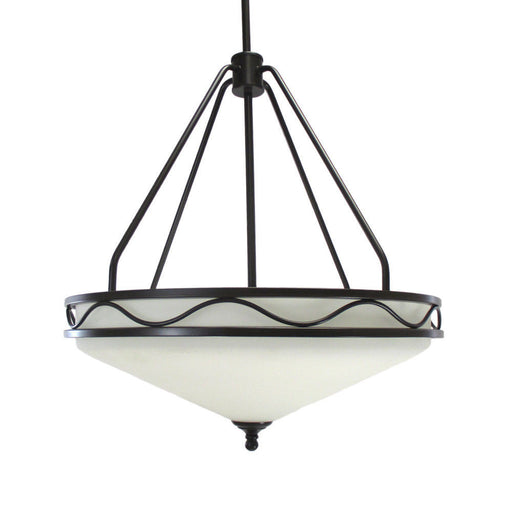 Epiphany Lighting 100332 ORB Four Light Hanging Pendant Chandelier in Oil Rubbed Bronze Finish - Quality Discount Lighting