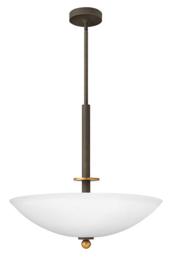 Hinkley Lighting 4682 OZ Cooper Collection Four Light Hanging Pendant Chandelier in Oil Rubbed Bronze Finish