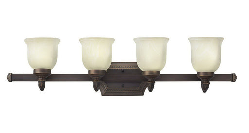 Hinkley Lighting 5904 OB Abigail Collection Four Light Bath Vanity Wall Fixture in Olde Bronze Finish - Quality Discount Lighting