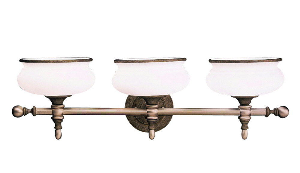 Aztec 37030 by Kichler Lighting Three Light Bath Wall Vanity Light in Tuscan Gold and Antique Pewter Finish