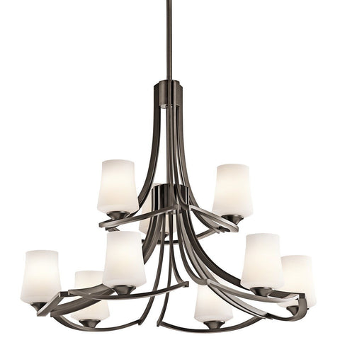 Aztec 34669 by Kichler Lighting Holton Collection Nine Light Hanging Chandelier in Old Bronze Finish - Quality Discount Lighting