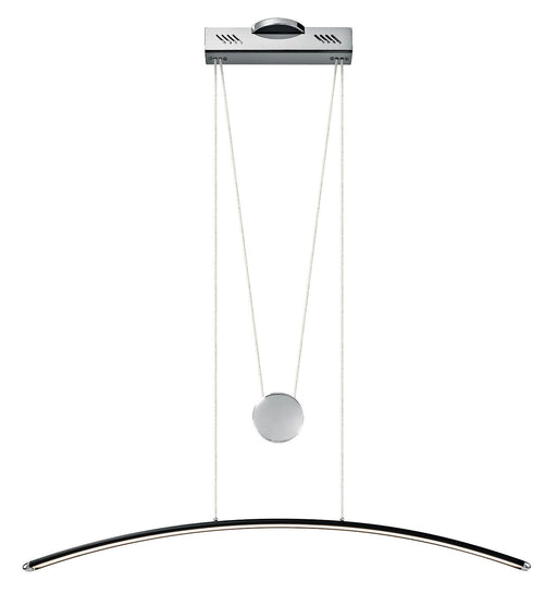 Elan by Kichler Lighting 83081 Sava Collection LED Hanging Pendant Chandelier in Black with Chrome Finish
