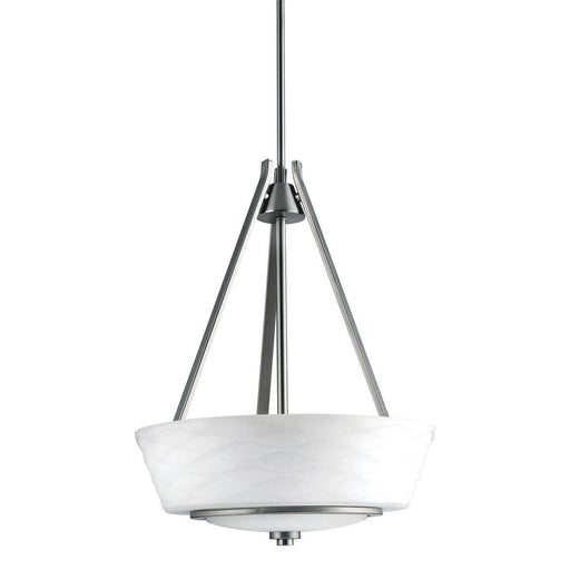 Aztec by Kichler Lighting 34982 Three Light Daphne Collection Hanging Pendant Chandelier in Brushed Nickel Finish - Quality Discount Lighting