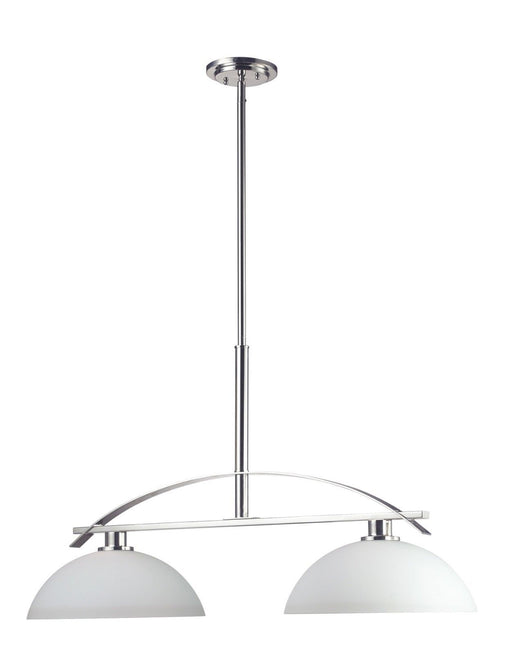 Z-Lite Lighting 605-2 Ellipse Collection Two Light Hanging Island Billiard Chandelier in Polished Chrome Finish