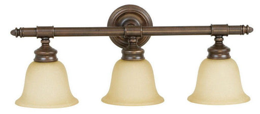 Craftmade Lighting 10625 AG3 Fresno Collection Three Light Bath Vanity Wall Mount in Aged Bronze Finish