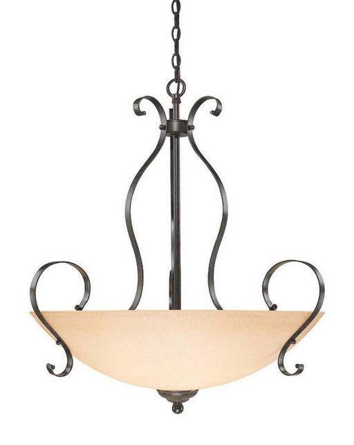 Craftmade Lighting 14445 BST Brookfield Collection Five Light Pendant Chandelier in Brownstone Finish
