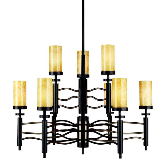 Kichler Lighting 42188OZ Nine Light Millry Collection Hanging Chandelier in Olde Bronze Finish - Quality Discount Lighting