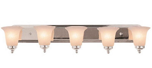 Trans Globe Lighting PL3505 PC Five Light Energy Efficient GU24 Bath Wall Fixture in Polished Chrome Finish