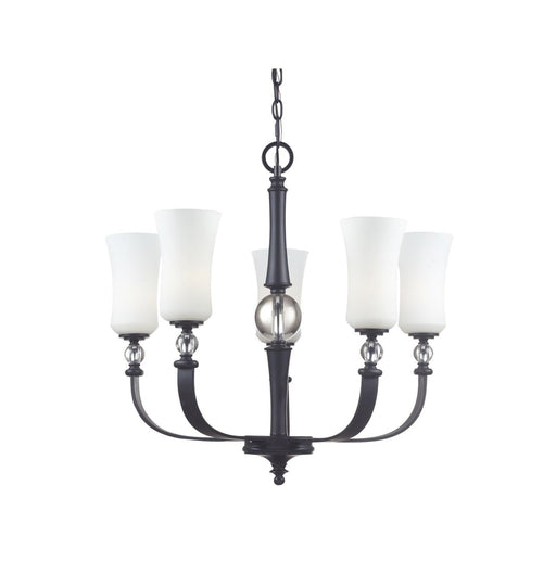 Z-Lite Lighting 604-5 Harmony Collection Five Light Chandelier in Matte Black Finish