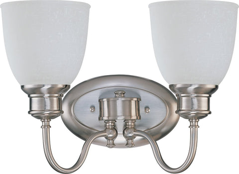 Nuvo Lighting 60-2797 Bella Collection Two Light Bath Vanity Wall Mount in Brushed Nickel Finish