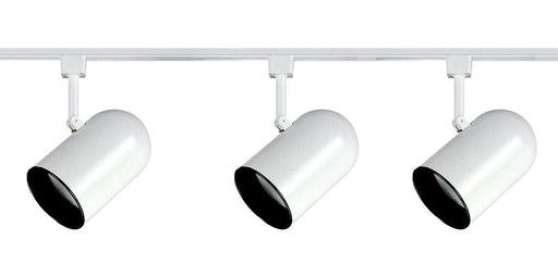 Epiphany Lighting PT4012 WH Three Light Roundback Track Kit in White Finish - Discount Lighting Fixtures