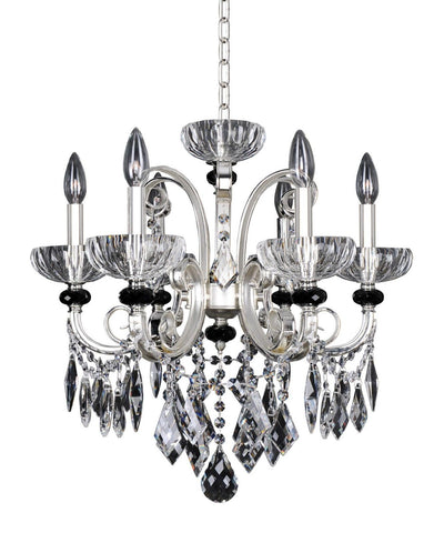 Kalco Lighting 024851-017-FR001 Gabrieli Collection Six Light Hanging Chandelier in Two Tone Silver Finish