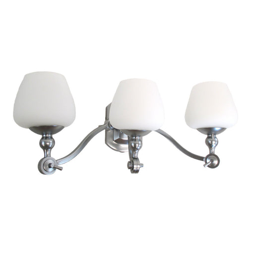 Kalco Lighting 8243 SN Monique Collection Three Light Bath Vanity Wall Mount in Satin Nickel Finish - Quality Discount Lighting