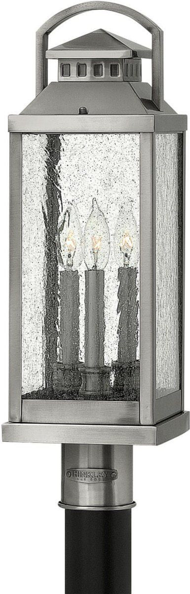 Hinkley Lighting 1181PW Revere Collection Three Light Exterior Outdoor Post Lantern in Pewter Finish - Discount Lighting Fixtures