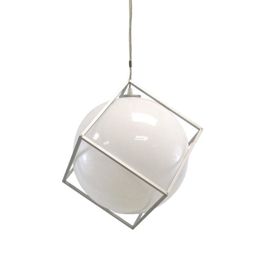 Oxygen Lighting 2-639-59 Lunetta Collection Hanging Pendant  in Silver Graphite Finish
