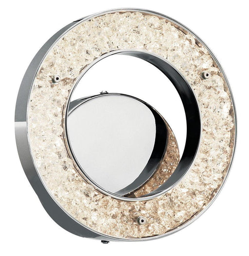 Elan by Kichler Lighting 83056 Crushed Ice Collection LED Wall Sconce in Polished Chrome Finish
