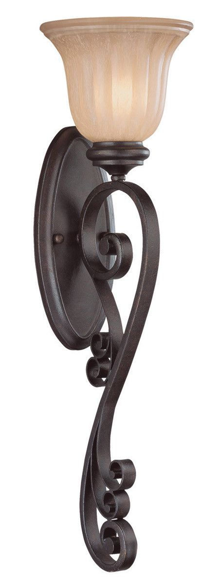 Craftmade Lighting 25821 SI Lagrange Collection One Light Wall Sconce in Seville Iron Finish