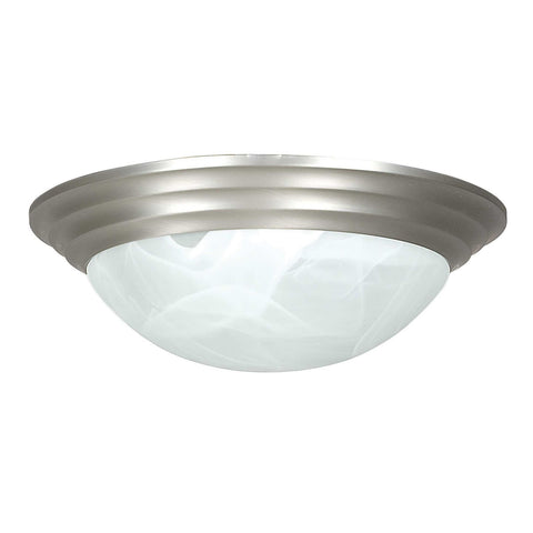 Epiphany Lighting ESCM368-39 BN Three Light Energy Saving Fluorescent Flush Mount in Brushed Nickel Finish