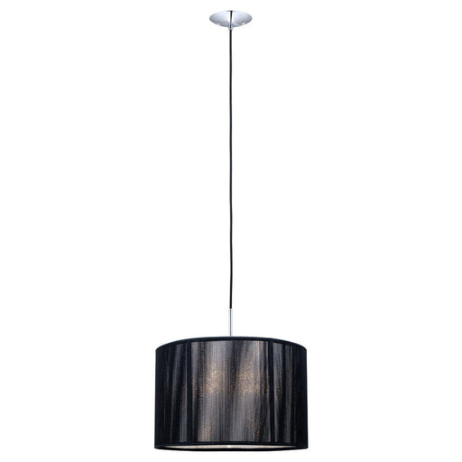 Eglo Lighting 20102A Fabienne Collection One Light Pendant Chandelier in Chrome Finish - Quality Discount Lighting
