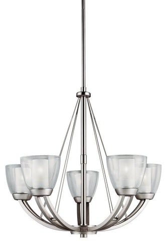 Aztec by Kichler Lighting 34934 Five Light Lucia Collection Hanging Chandelier in Brushed Nickel Finish - Quality Discount Lighting