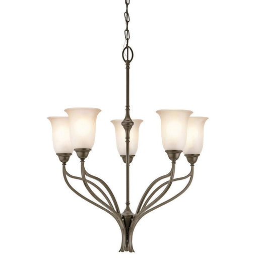 Aztec 34974 by Kichler Lighting Wayland Collection Five Light Chandelier in Shadow Bronze Finish