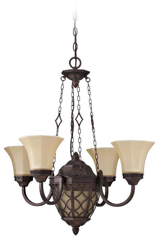 Craftmade Lighting 36424 PR Evangeline Collection Five Light Chandelier in Peruvian Bronze Finish