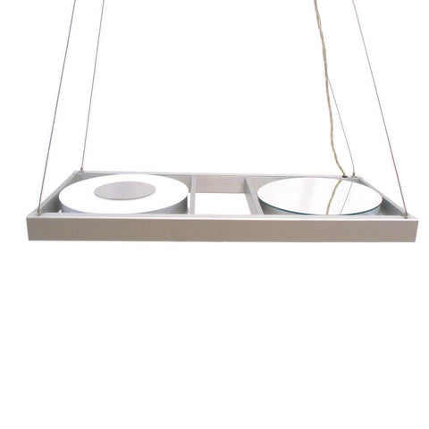 Oxygen Lighting 2-6121-16 Two Light Energy Efficient Hanging Pendant Chandelier in Aluminum Finish