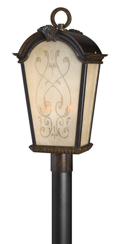 Hinkley Lighting 1991RB Orleans Collection Two Light Exterior Outdoor Post Lantern in Regency Bronze Finish - Discount Lighting Fixtures