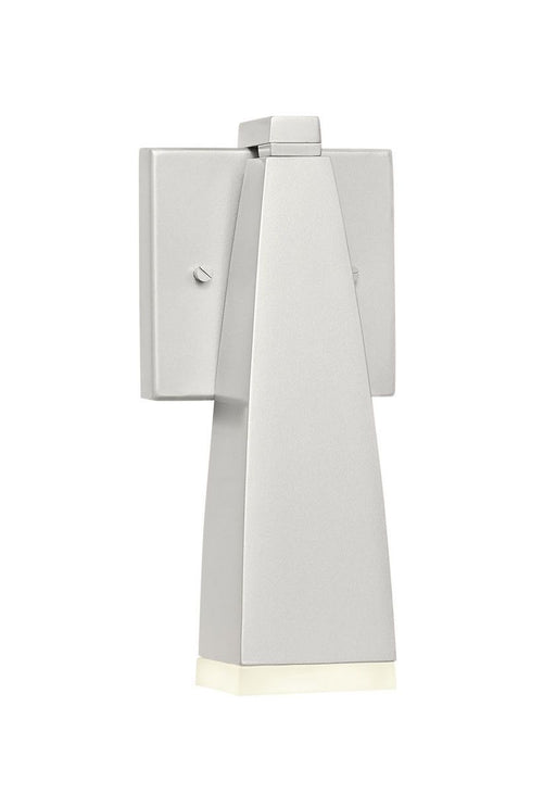 Elan by Kichler Lighting 83557 Heren Collection LED Outdoor Wall Lantern in Painted Platinum Finish