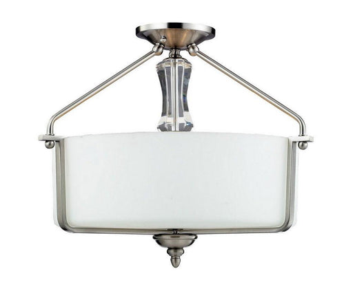 Z-Lite Lighting 2000-SF Avignon Collection Three Light Semi Flush Ceiling Mount in Brushed Nickel Finish