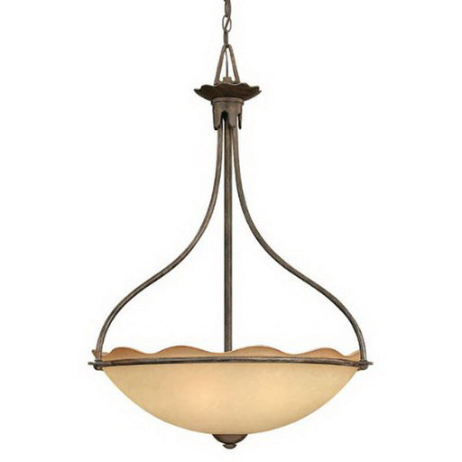 Hinkley Lighting 4282TI Jardino Collection Four Light Hanging Pendant Chandelier in Tuscan Iron Finish - Discount Lighting Fixtures