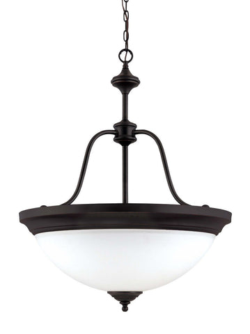Nuvo Lighting 60-1788 Glenwood Collection Four Light Hanging Pendant Chandelier in Sudbury Bronze Finish - Quality Discount Lighting