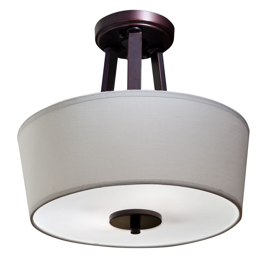aztec by kichler lighting two light semi flush ceiling fixture in oil rubbed bronze finish