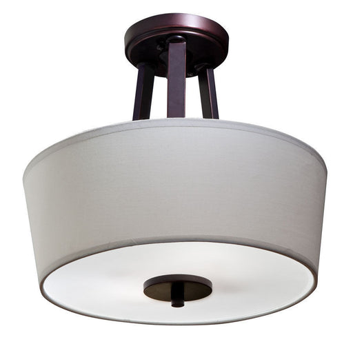 Aztec by Kichler Lighting 38154 Two Light Semi Flush Ceiling Fixture in Oil Rubbed Bronze Finish - Quality Discount Lighting